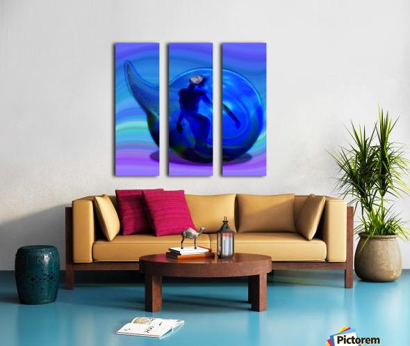 The Birth of Marmaid  Split Canvas print