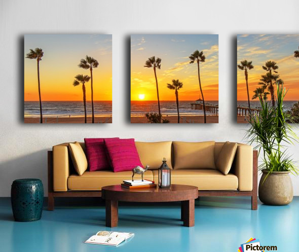 Kalifornikation Split Canvas print