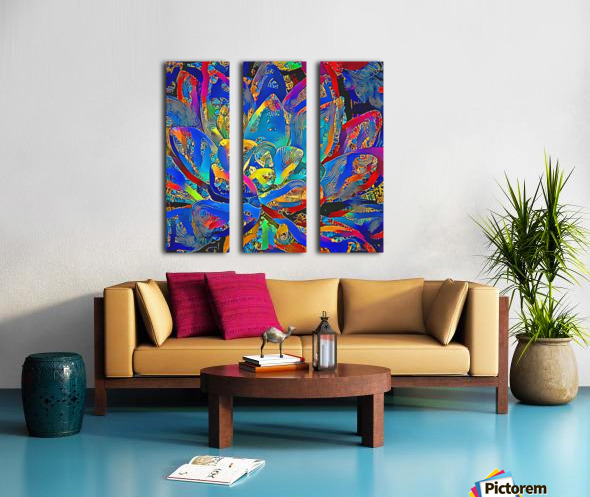 Succulent Jamboree Split Canvas print