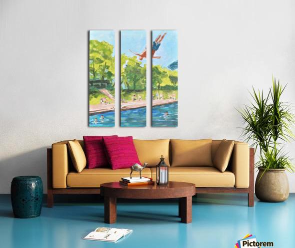 Barton Springs. Zach C Split Canvas print