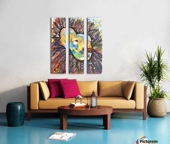 Lively Lion.Maggie Z Split Canvas print