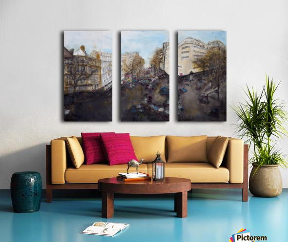 Buildings_High_Res Split Canvas print