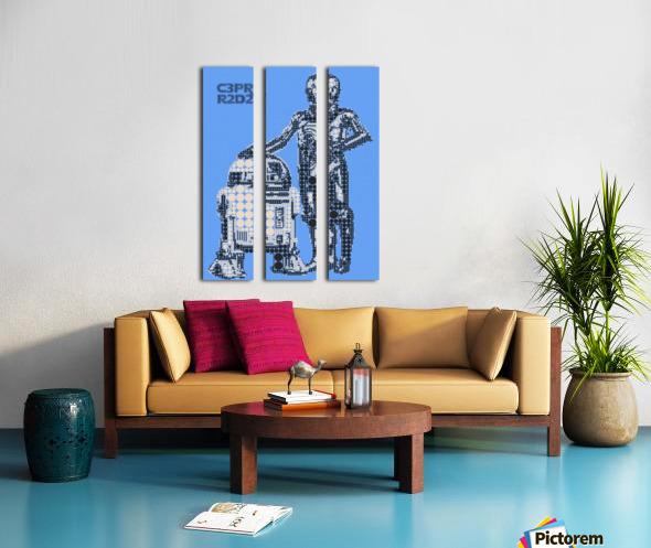 C3PO & R2D2 Split Canvas print