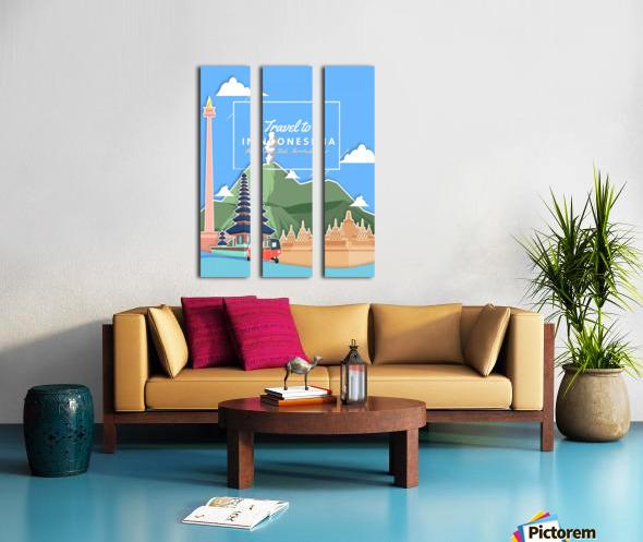 Travel To Indonesia Split Canvas print