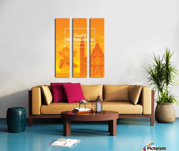 Travel To Netherlands Split Canvas print