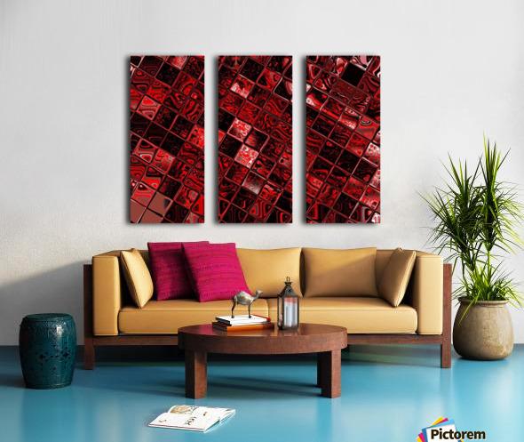 Red Glass Tiles 3 Split Canvas print