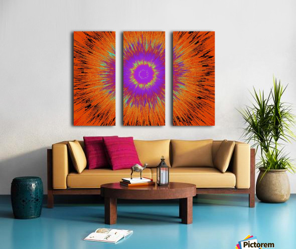 Abstract Sun 33 Split Canvas print