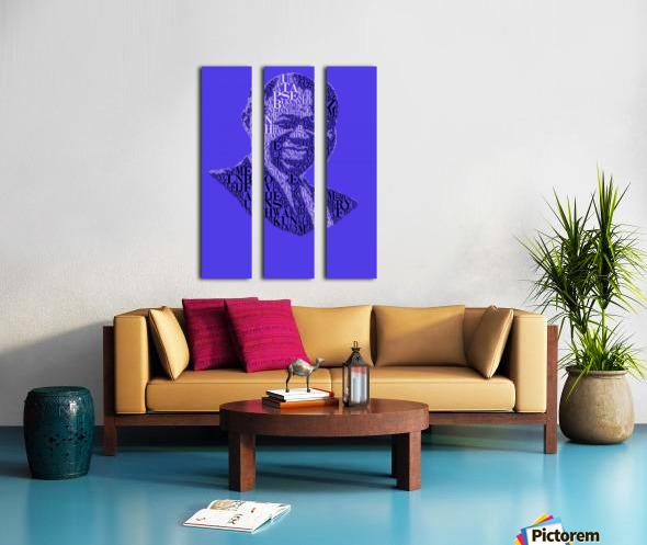 Louis Amstrong Split Canvas print
