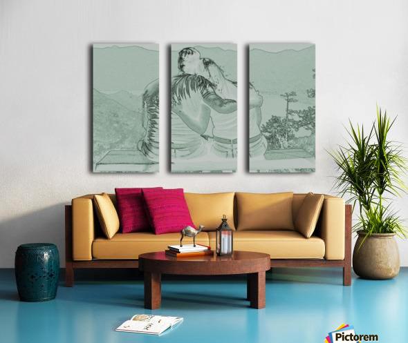 Couple Split Canvas print