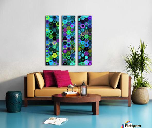 generated_Glitch43 Split Canvas print