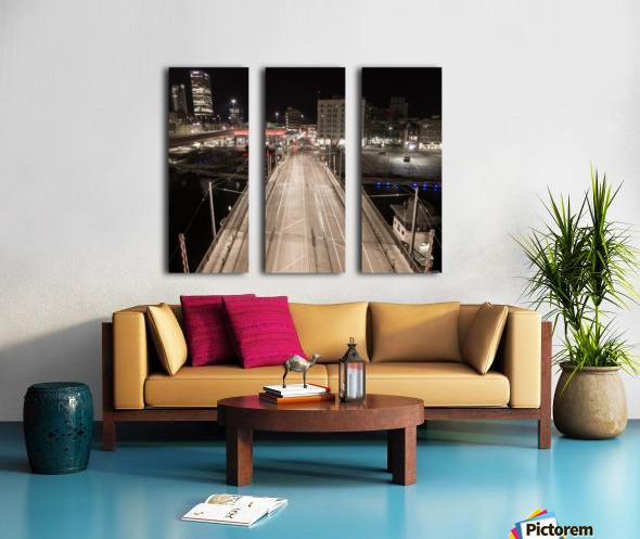 Milwaukee Bridge of The Past Split Canvas print