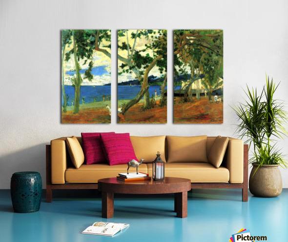 Beach Scene 2 by Gauguin Split Canvas print