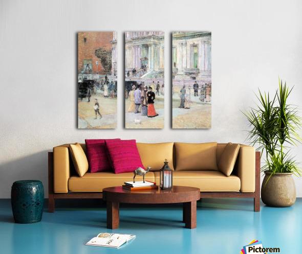 The Manhattan Club (The Villa of the Stewarts) by Hassam Split Canvas print