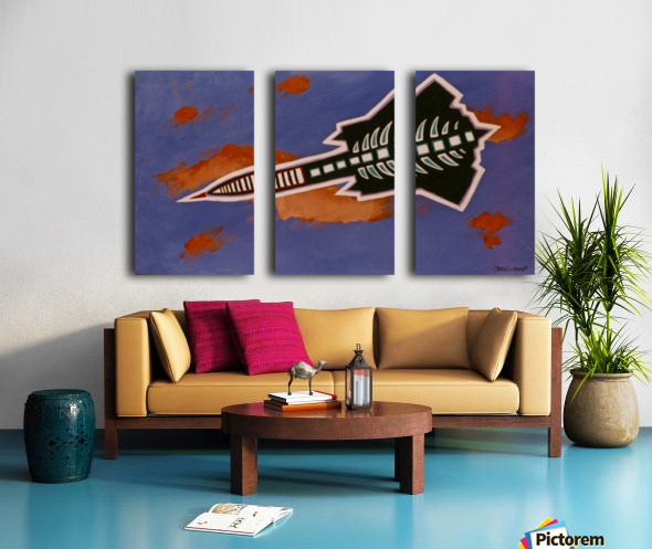 Rocket Ship Split Canvas print