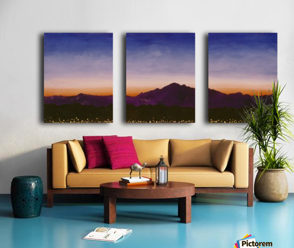 Ridgecrest Split Canvas print