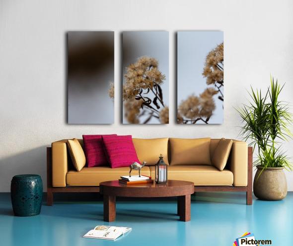 Winter Flowers Split Canvas print