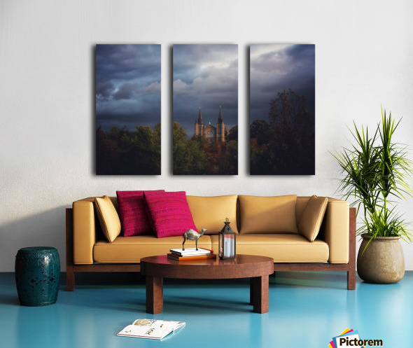 Divine Light Split Canvas print