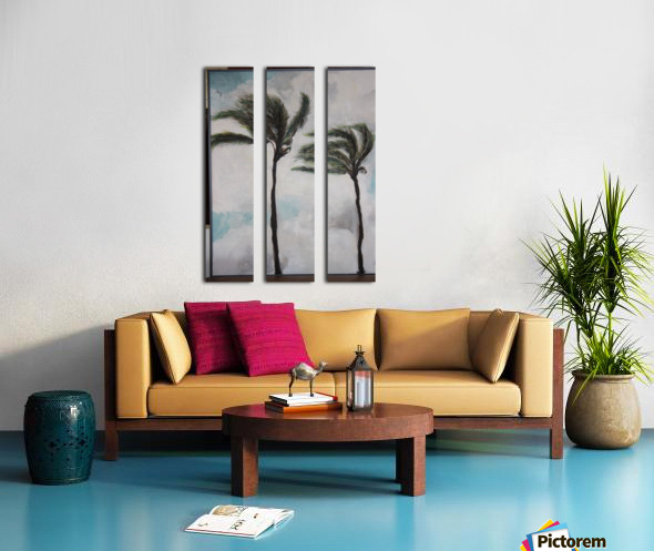 Palms Split Canvas print