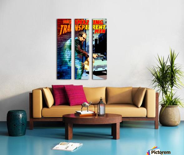 The Amazing Transparent Man 1960 Poster 1 Split Canvas print