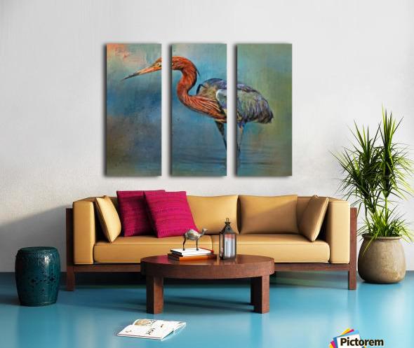 Painted Reddish Egret Split Canvas print