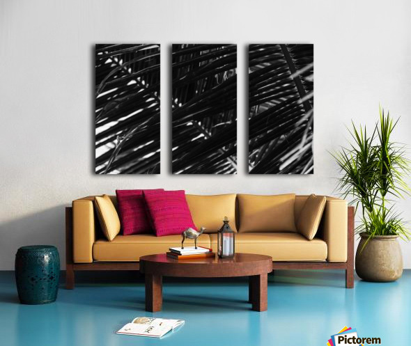 Dark Lines Split Canvas print