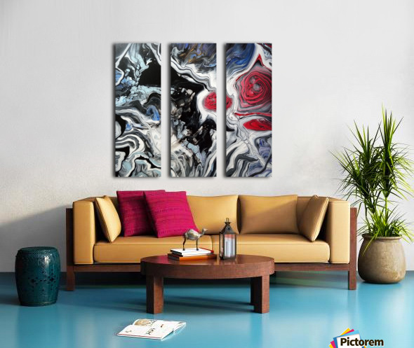Song of flowers Split Canvas print