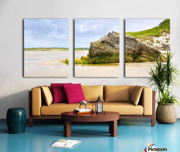 Rock Formations - Maghera Beach 6 Split Canvas print
