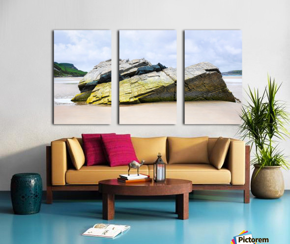 Rock Formations - Maghera Beach Split Canvas print