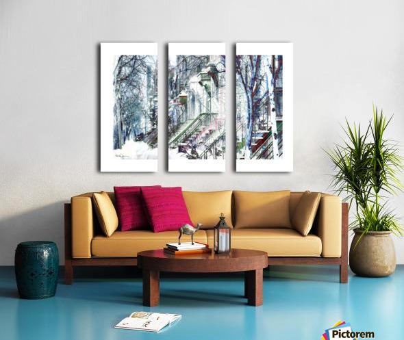 Rue Laval Montreal Split Canvas print