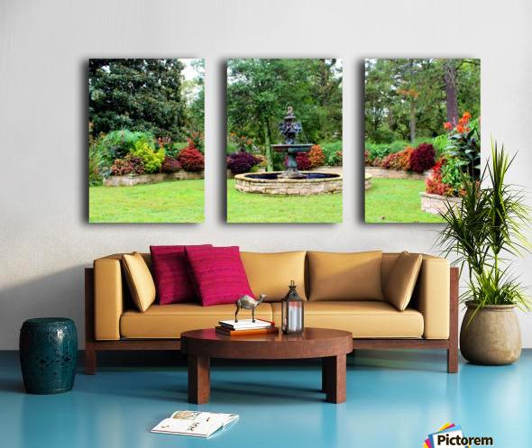 Crescent Gardens Split Canvas print