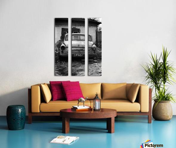Abandoned ZAZ 965  USSRs replica of FIAT 600 Split Canvas print