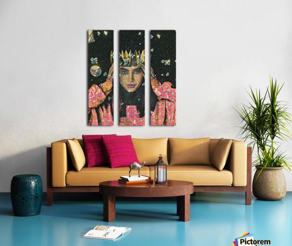 TheQueen Split Canvas print