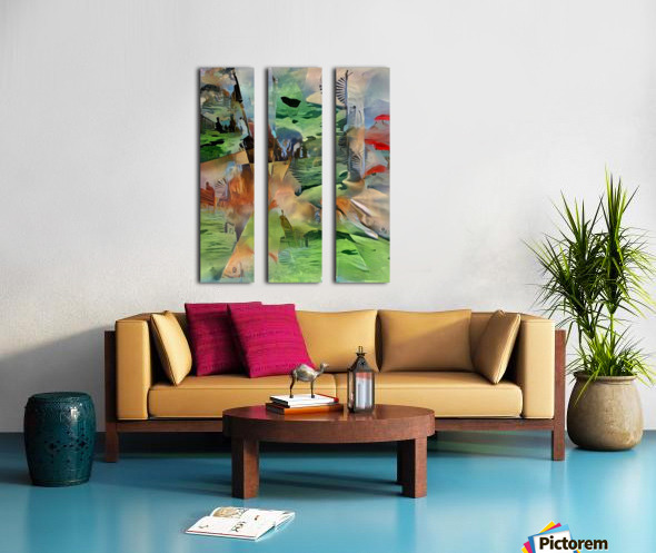 Imaginary World Split Canvas print