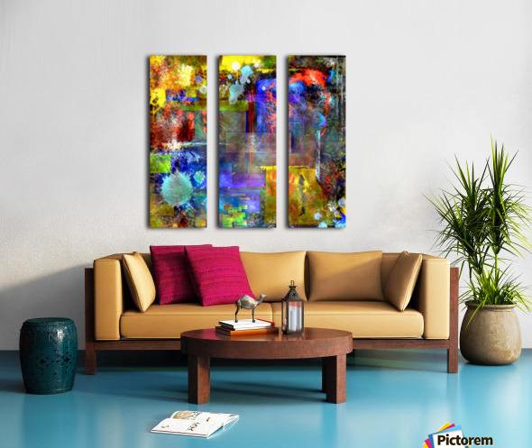 Modern Trendy Abstract Art Split Canvas print