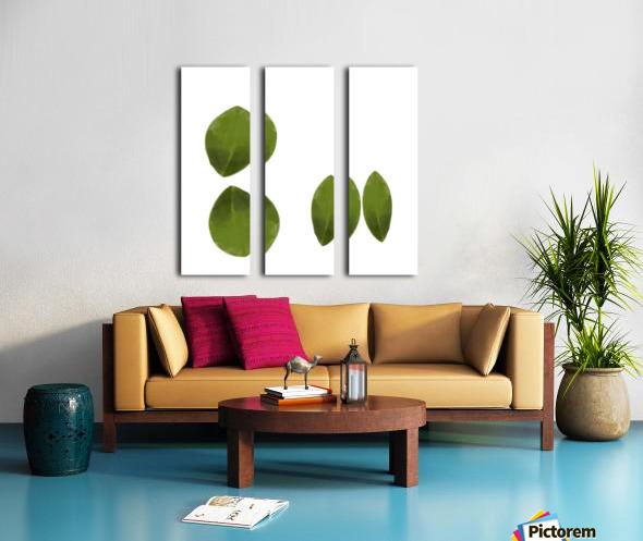 4 Leaves Split Canvas print