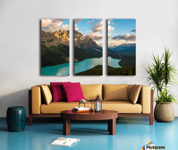 Peyto Lake 2 Split Canvas print