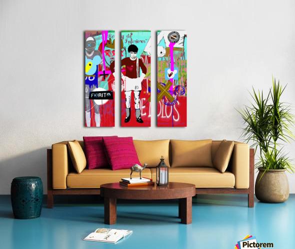 Argentinos King Split Canvas print