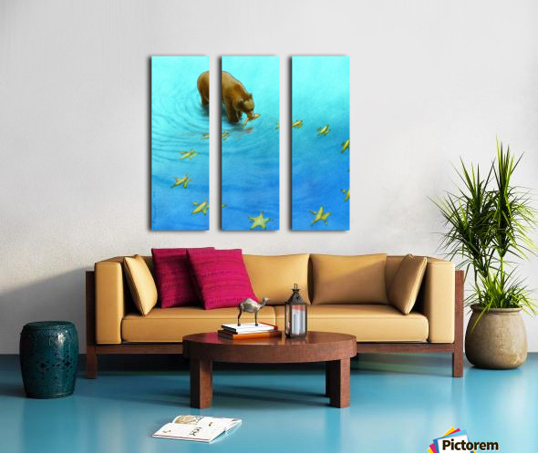 gold fishes Split Canvas print