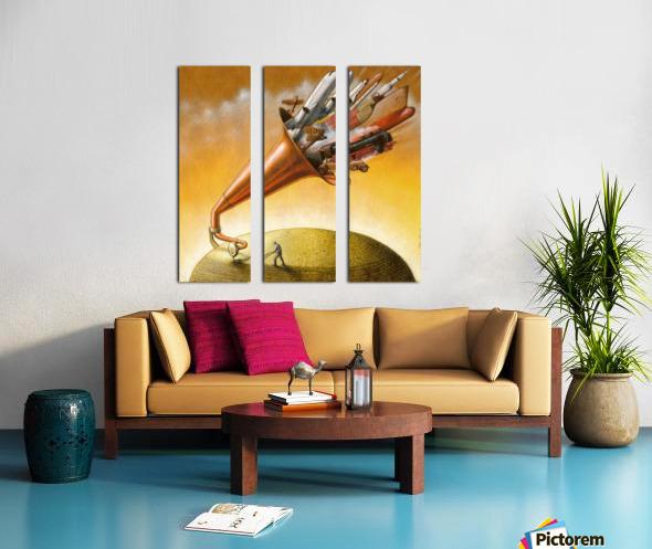 humanity Split Canvas print
