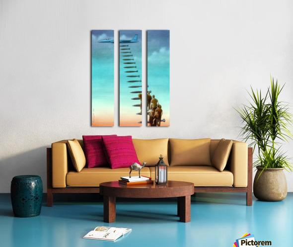 Help Split Canvas print