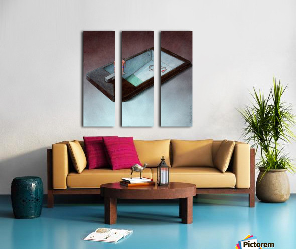 low battery Split Canvas print