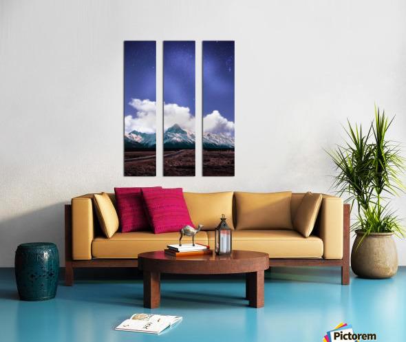 Blue Sky Over The Mountain Split Canvas print
