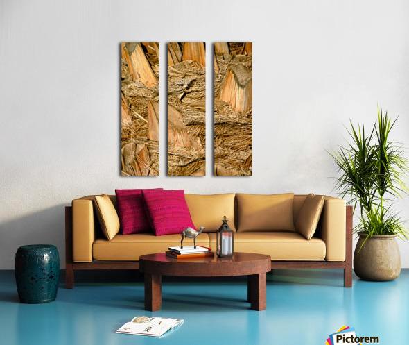 Jagged Gold Split Canvas print