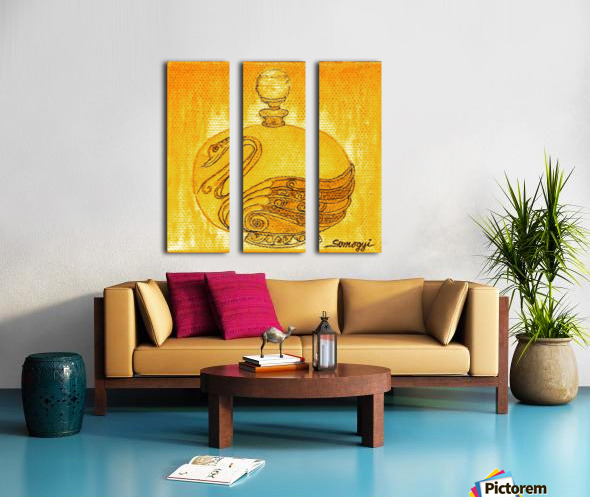 Bottled Gold Swan Split Canvas print