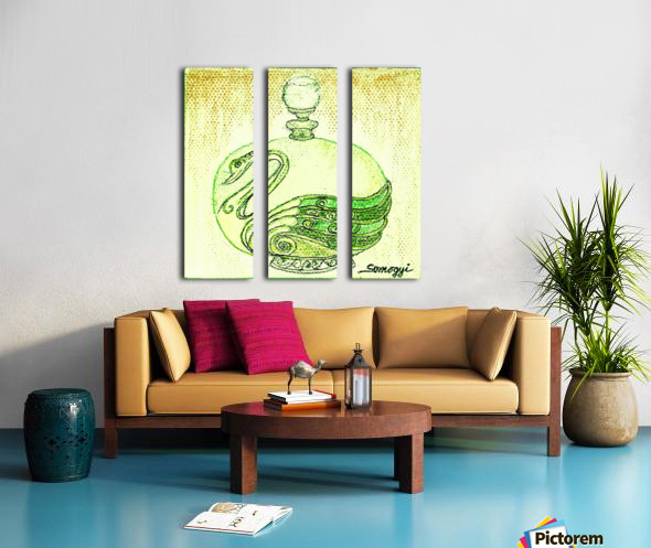 Bottled Lemon Swan Split Canvas print