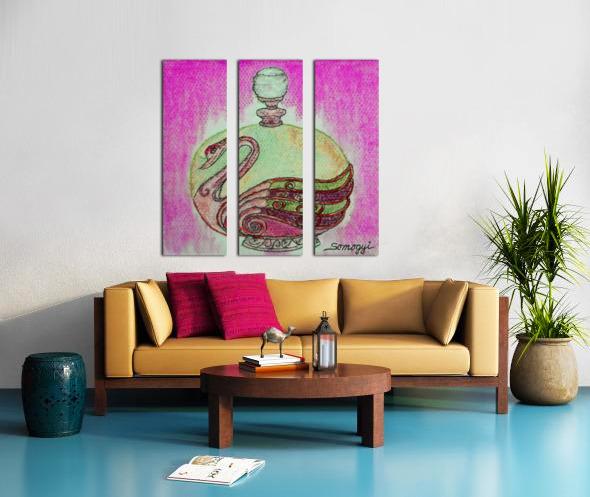 Bottled Purple Swan Split Canvas print