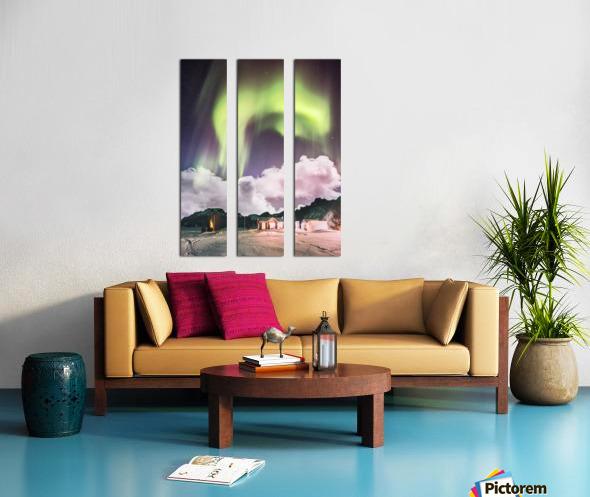 Aurora In The Winter Split Canvas print