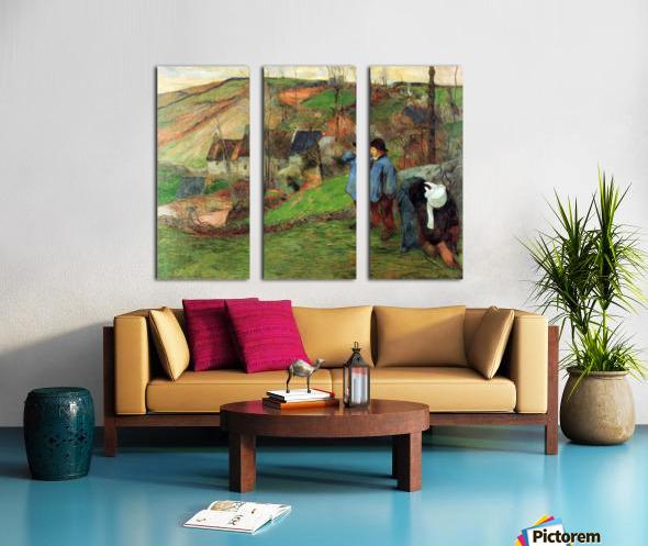 Breton Shepherd by Gauguin Split Canvas print