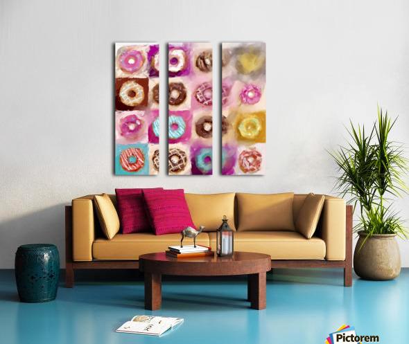 Donut Series No 1 Split Canvas print