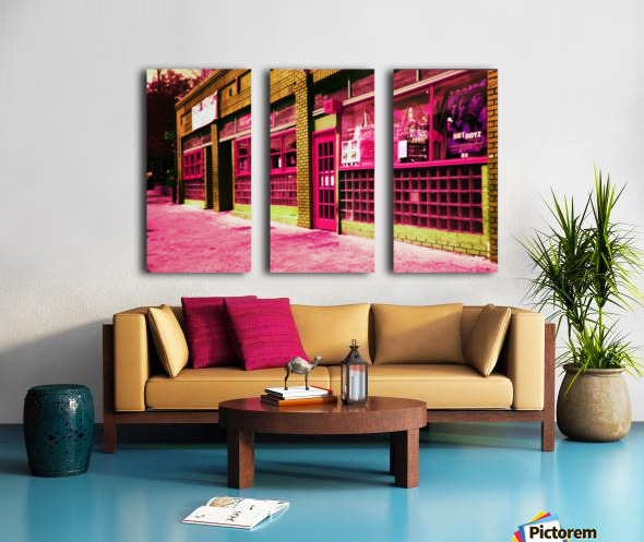 Atlanta Street Scene -- Red Split Canvas print